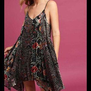 Anthropologie Eri Ali Velvet Slip Dress Size XXSP